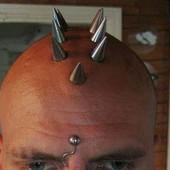 Шипы на голове брейн пирсинг